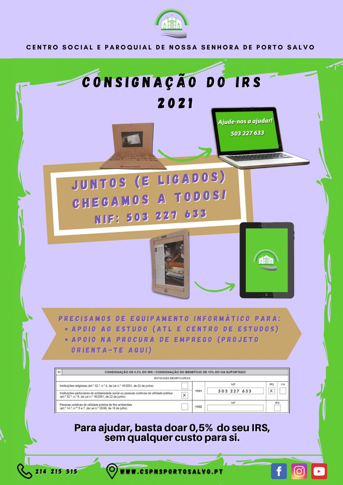 Consignação do IRS 2021